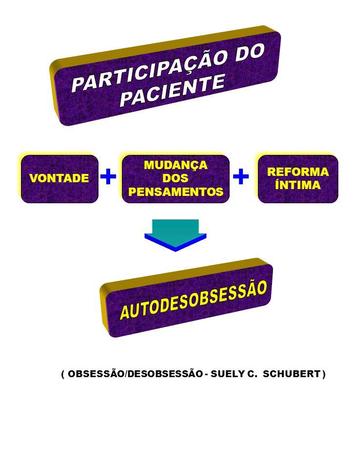 + + PARTICIPAÇÃO DO PACIENTE AUTODESOBSESSÃO VONTADE MUDANÇA DOS