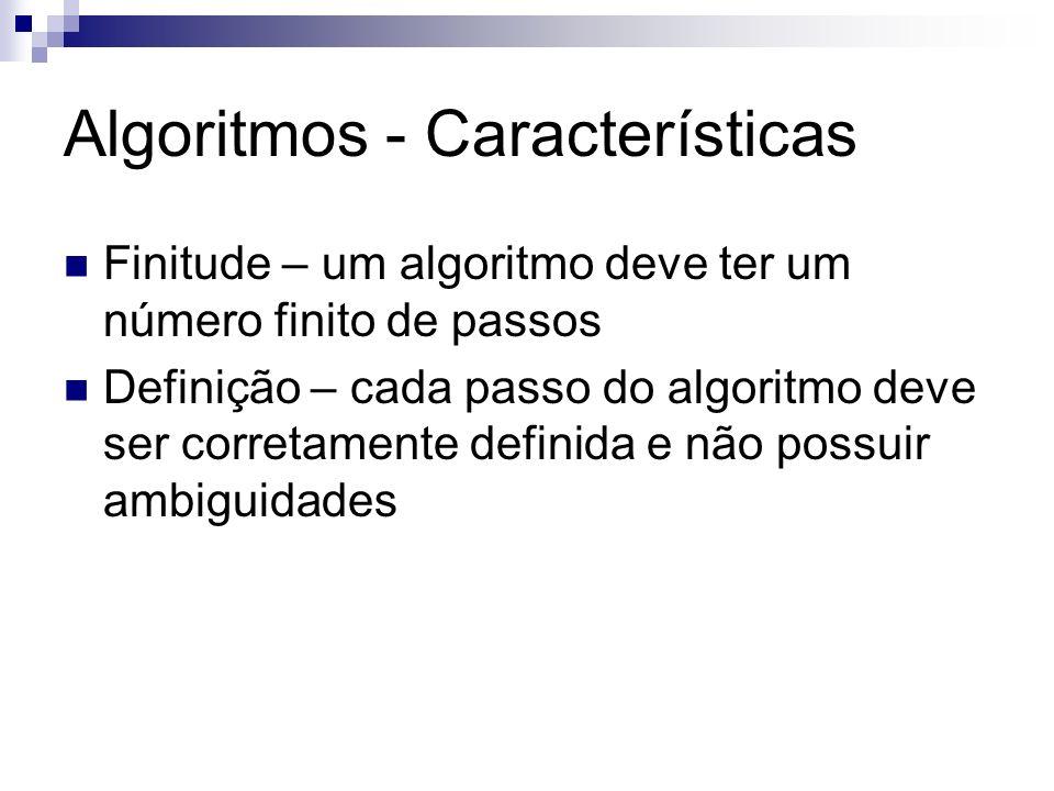 Algoritmos - Características