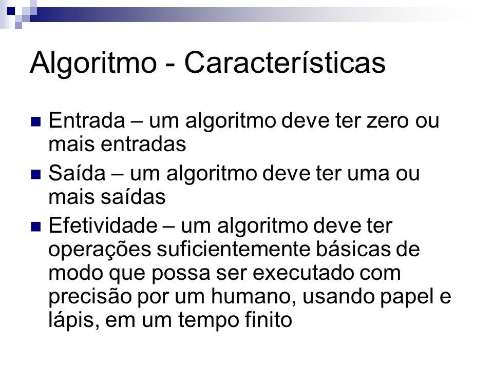 Algoritmo - Características
