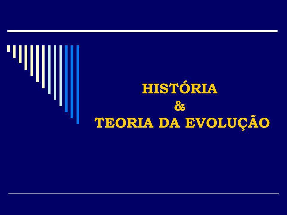 HISTÓRIA & TEORIA DA EVOLUÇÃO