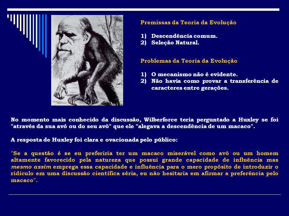 Premissas da Teoria da Evolução
