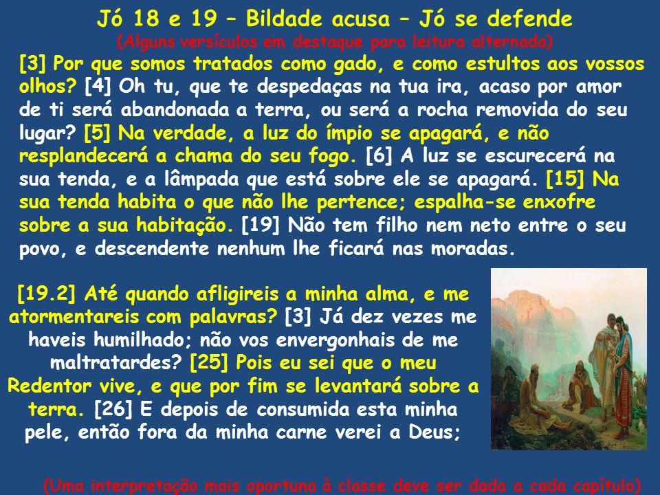 Jó 18 e 19 – Bildade acusa – Jó se defende
