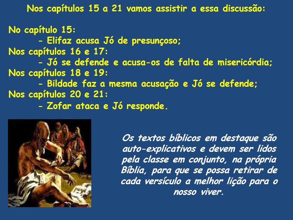 Nos capítulos 15 a 21 vamos assistir a essa discussão: