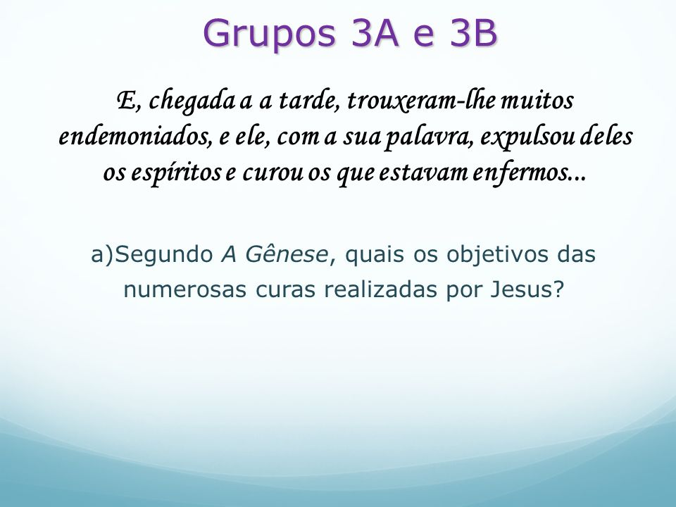 Grupos 3A e 3B