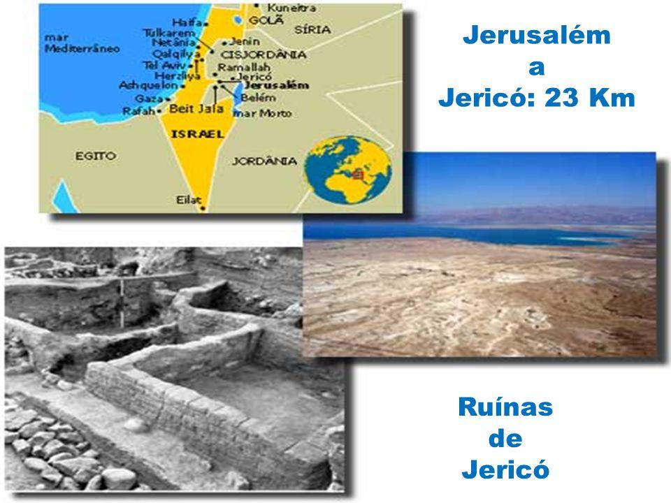 Jerusalém a Jericó: 23 Km Ruínas de Jericó