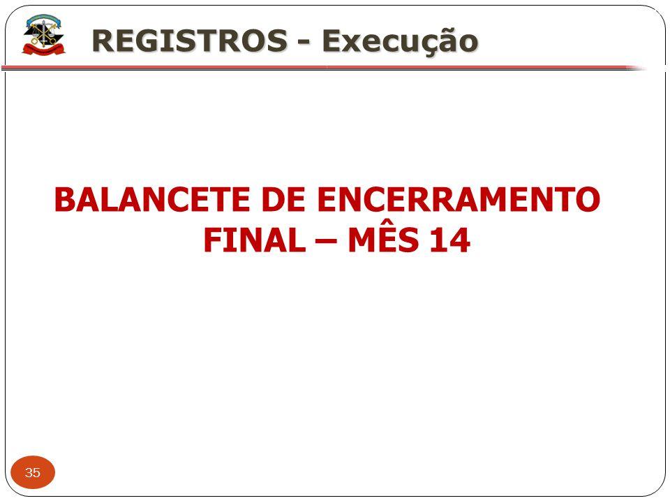 BALANCETE DE ENCERRAMENTO FINAL – MÊS 14