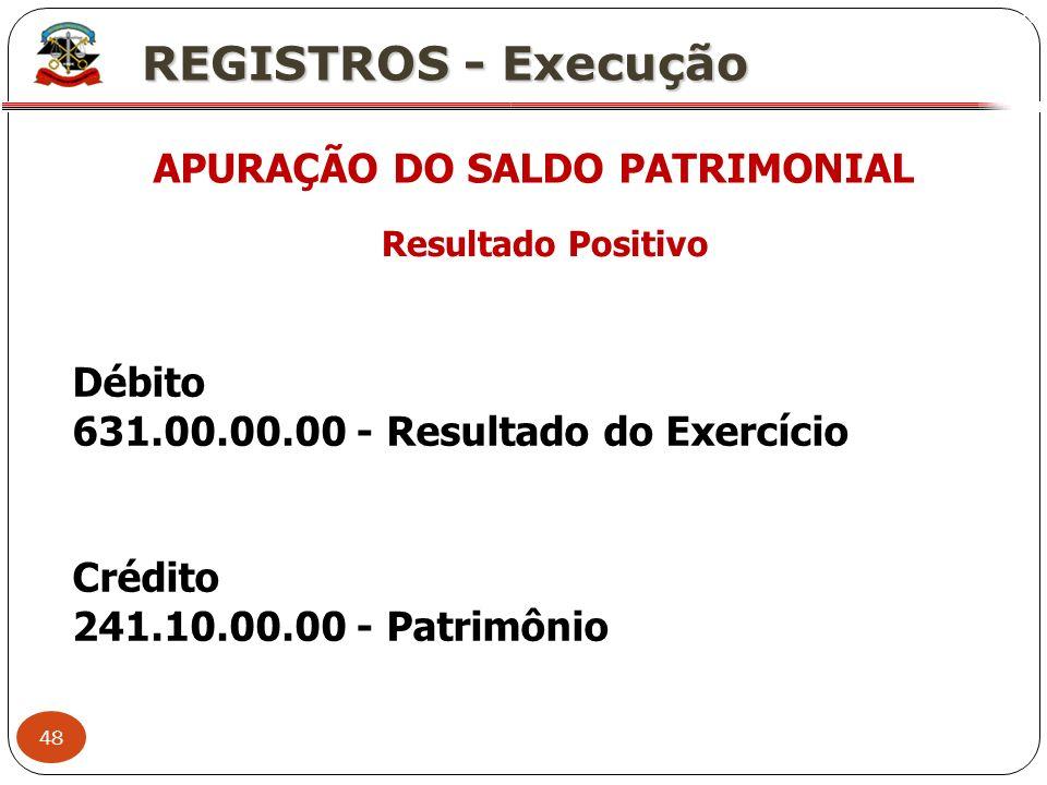 APURAÇÃO DO SALDO PATRIMONIAL