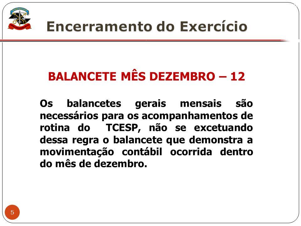 BALANCETE MÊS DEZEMBRO – 12