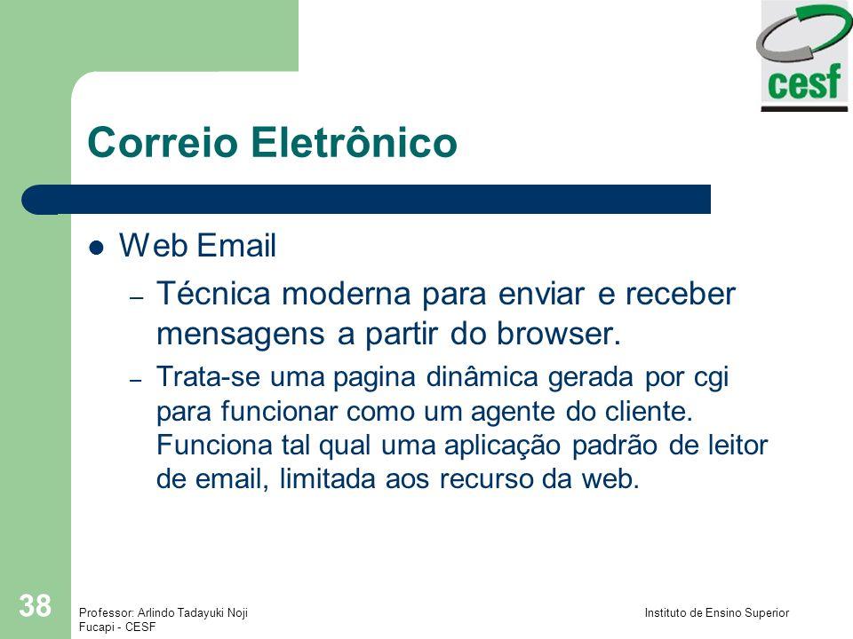 Correio Eletrônico Web Email