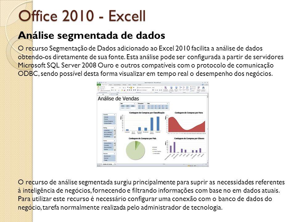 Office 2010 - Excell Análise segmentada de dados