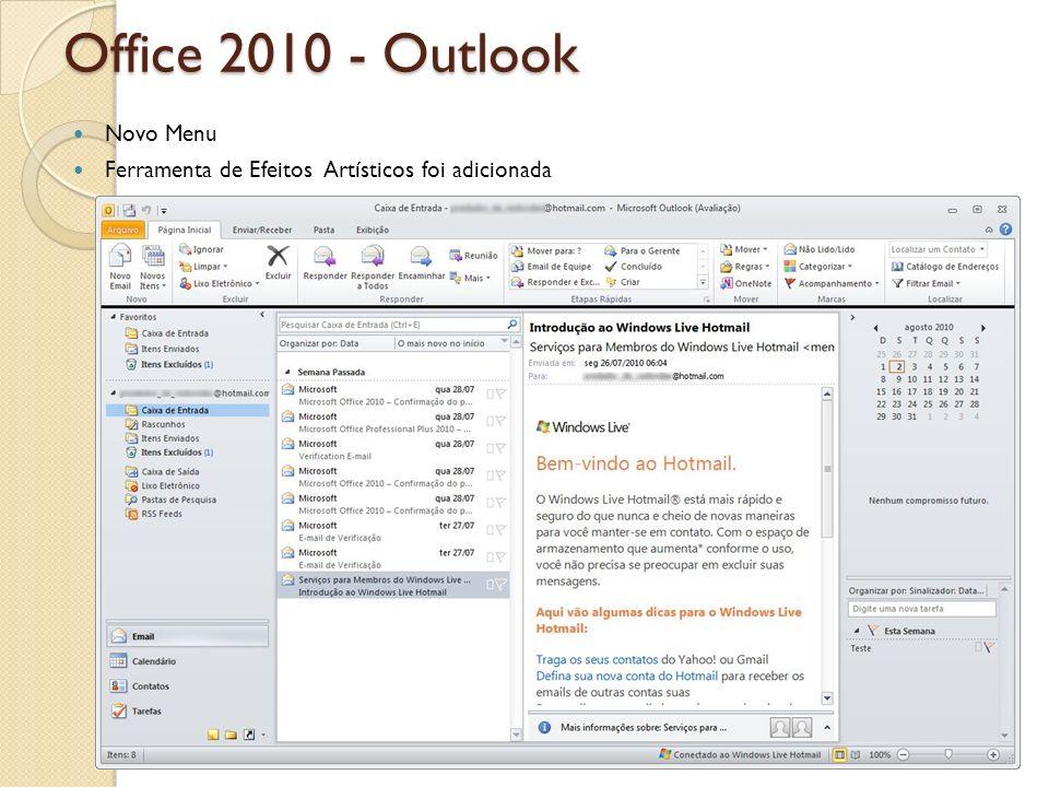 Office 2010 - Outlook Novo Menu