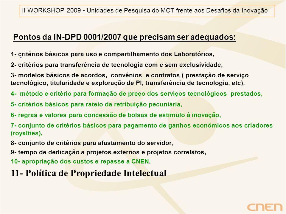 11- Política de Propriedade Intelectual .