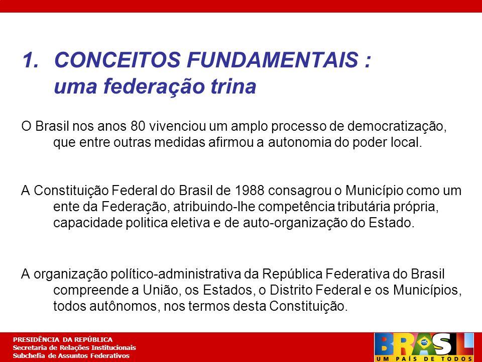 CONCEITOS FUNDAMENTAIS : uma federação trina