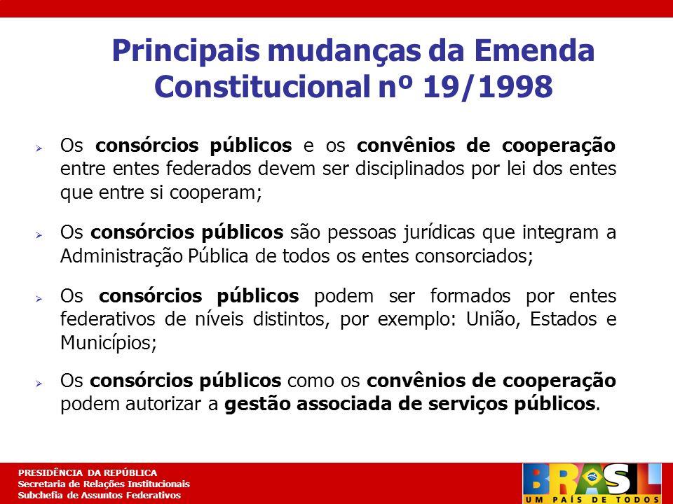 Principais mudanças da Emenda Constitucional nº 19/1998