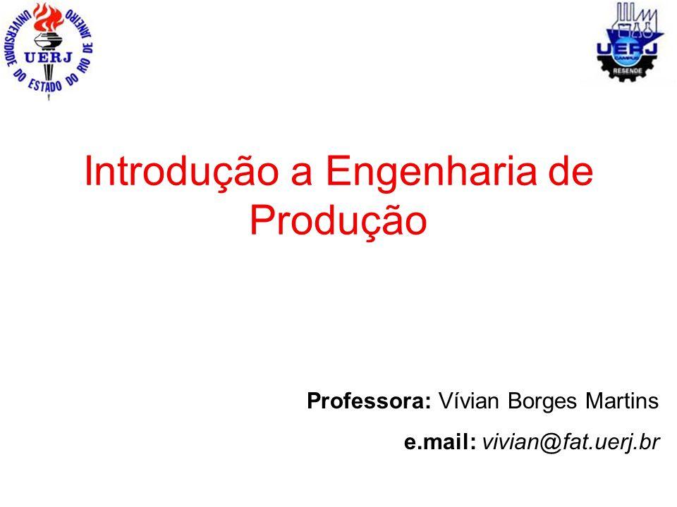 Introdução a Engenharia de Produção