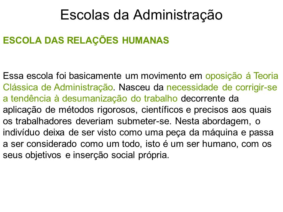 Escolas da Administração