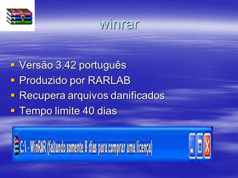 winrar Versão 3.42 português Produzido por RARLAB