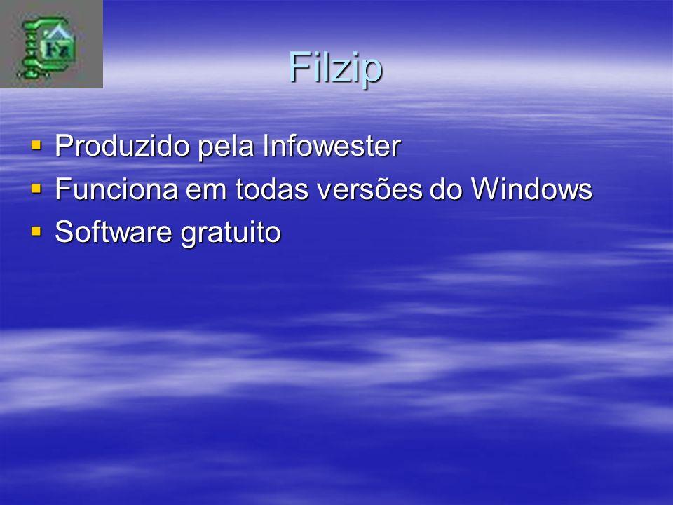 Filzip Produzido pela Infowester Funciona em todas versões do Windows