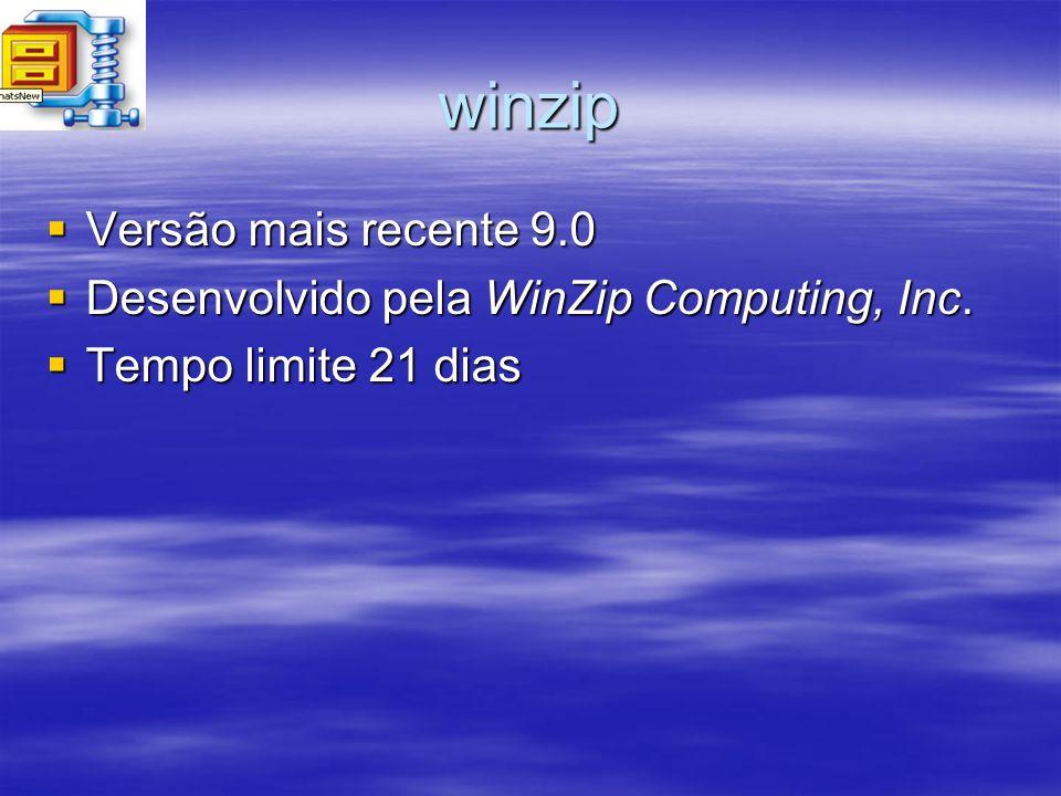 winzip Versão mais recente 9.0