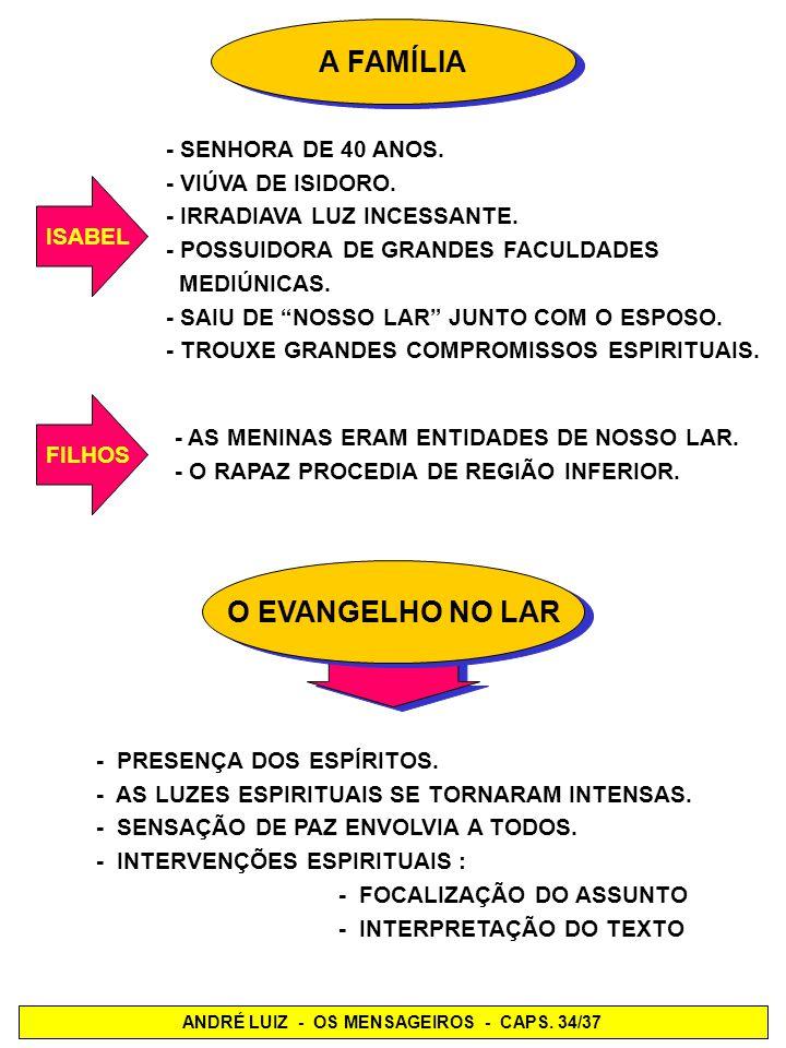 ANDRÉ LUIZ - OS MENSAGEIROS - CAPS. 34/37