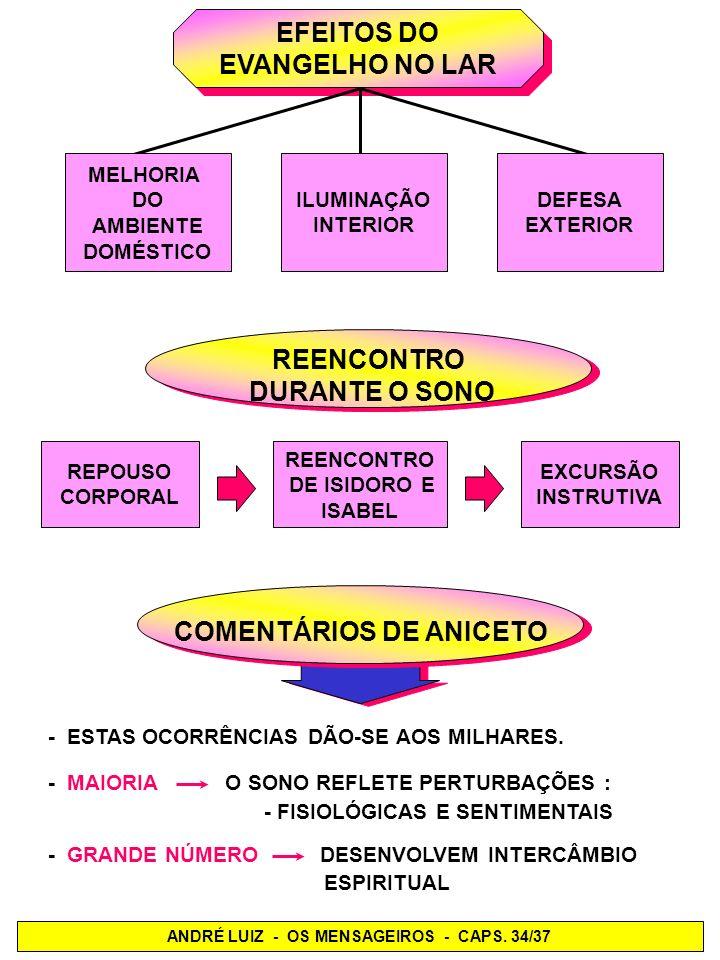 COMENTÁRIOS DE ANICETO ANDRÉ LUIZ - OS MENSAGEIROS - CAPS. 34/37