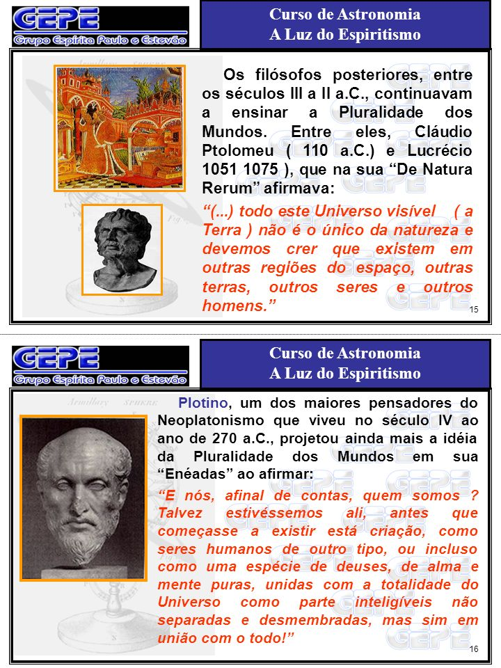 Os filósofos posteriores, entre os séculos III a II a. C