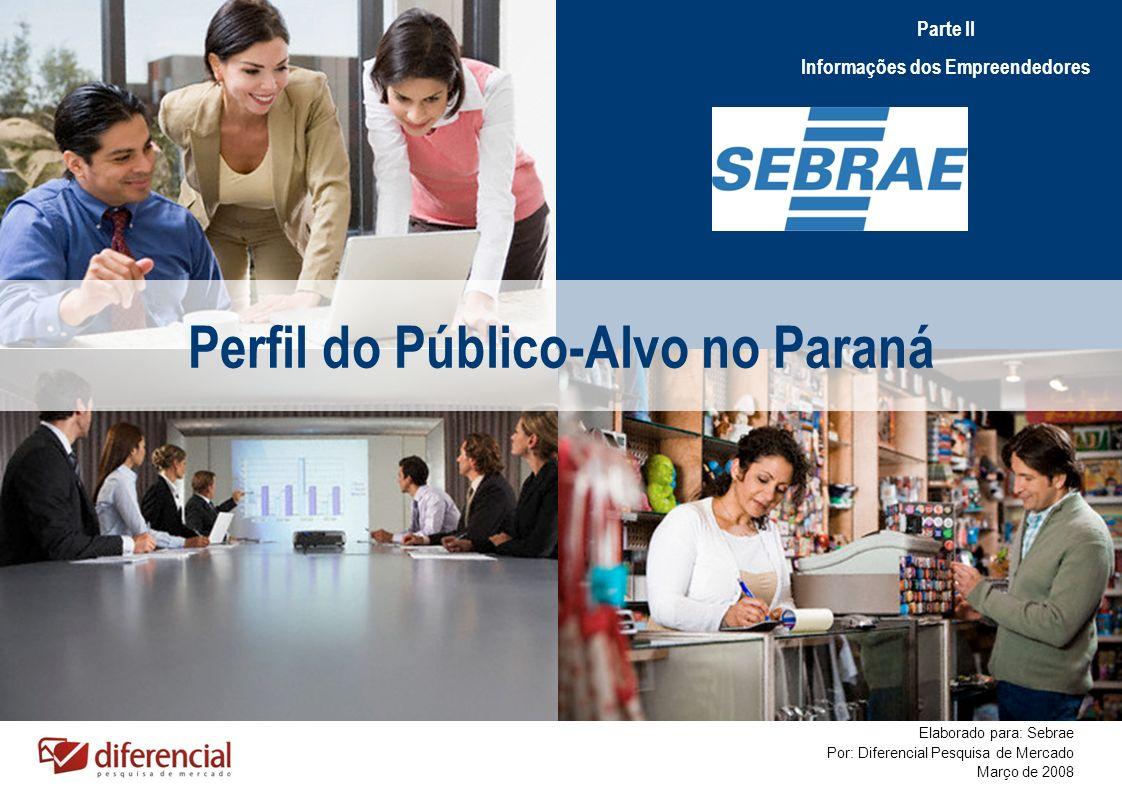 Informações dos Empreendedores Perfil do Público-Alvo no Paraná
