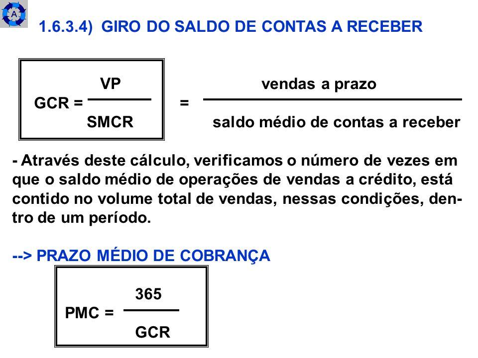 1.6.3.4) GIRO DO SALDO DE CONTAS A RECEBER