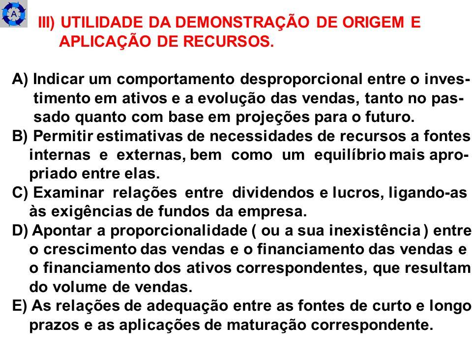 III) UTILIDADE DA DEMONSTRAÇÃO DE ORIGEM E