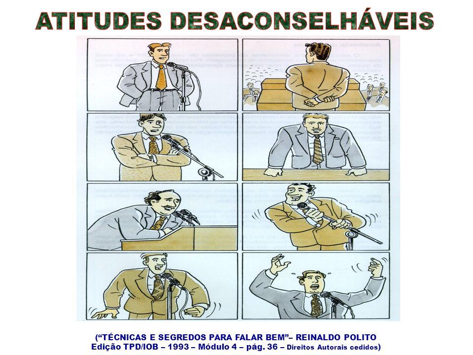 ATITUDES DESACONSELHÁVEIS