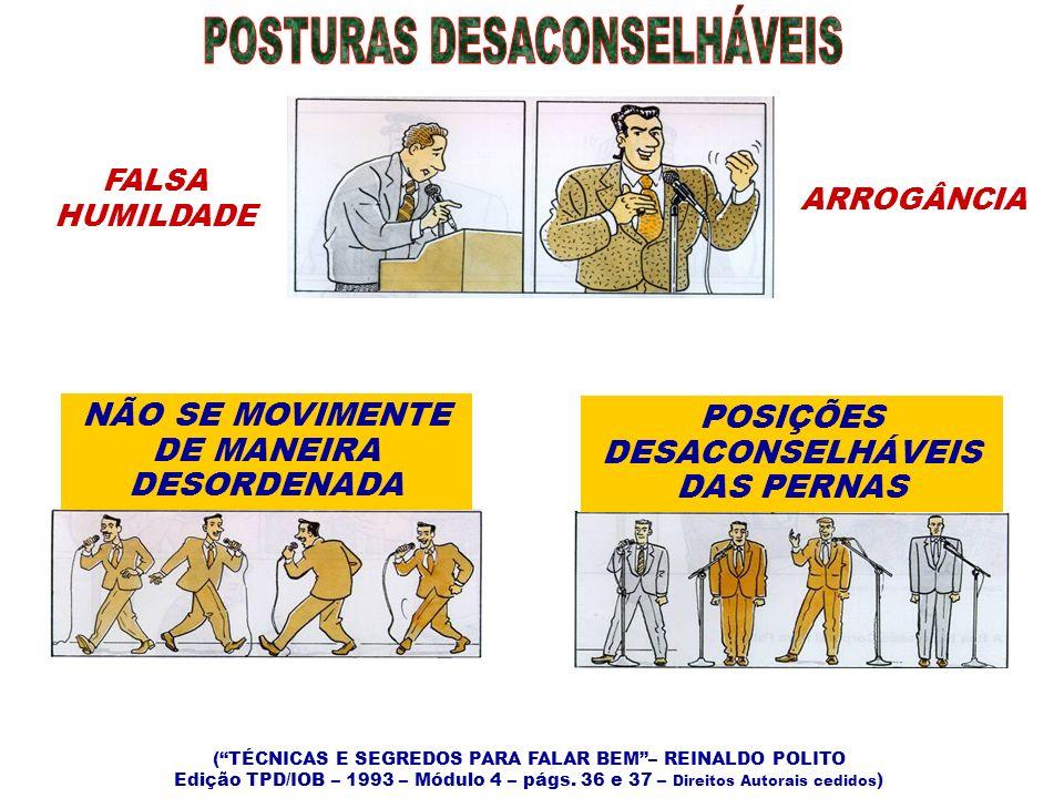 POSTURAS DESACONSELHÁVEIS