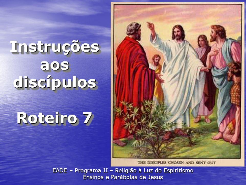 Instruções aos discípulos