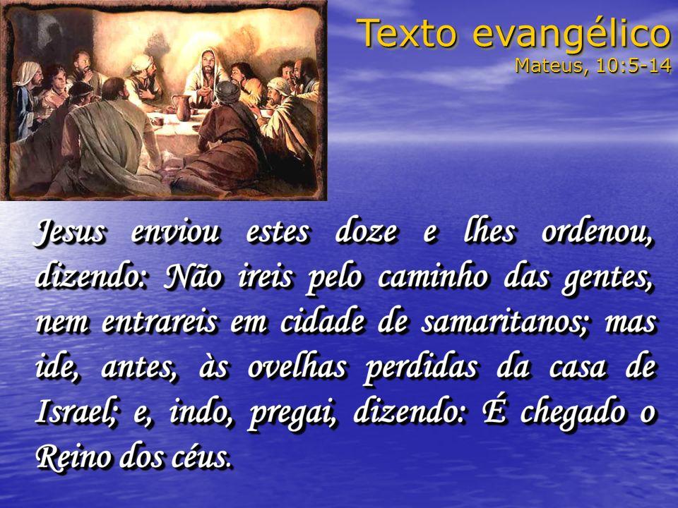 Texto evangélico Mateus, 10:5-14