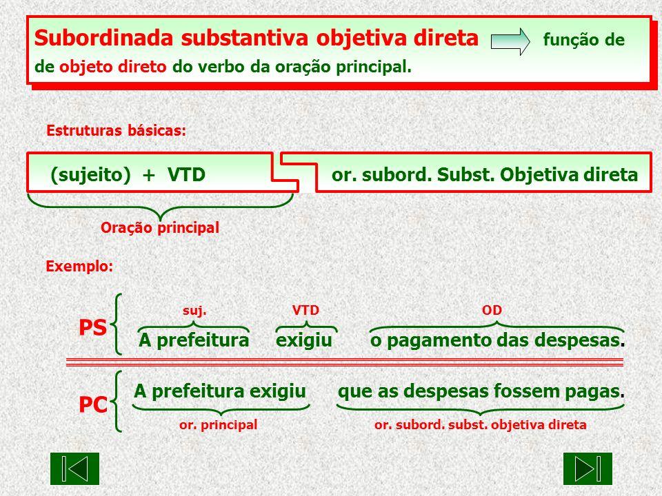 Subordinada substantiva objetiva direta