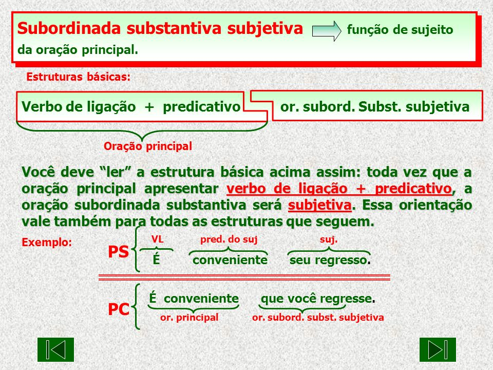 Subordinada substantiva subjetiva