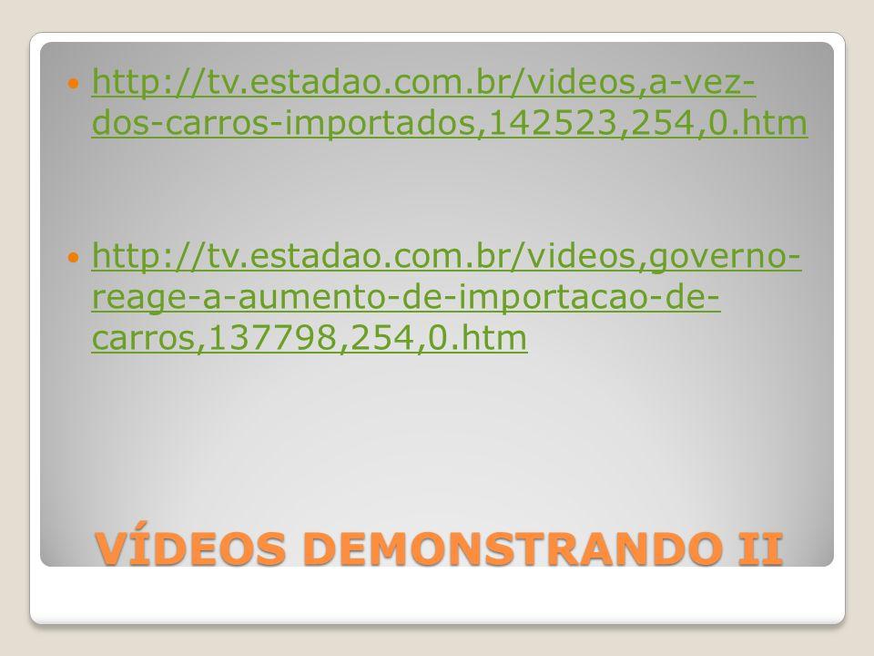 VÍDEOS DEMONSTRANDO II