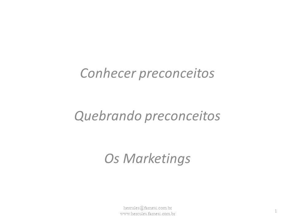 Conhecer preconceitos Quebrando preconceitos Os Marketings