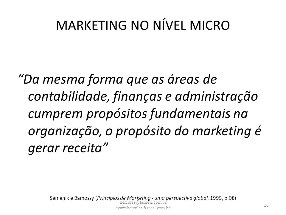 MARKETING NO NÍVEL MICRO