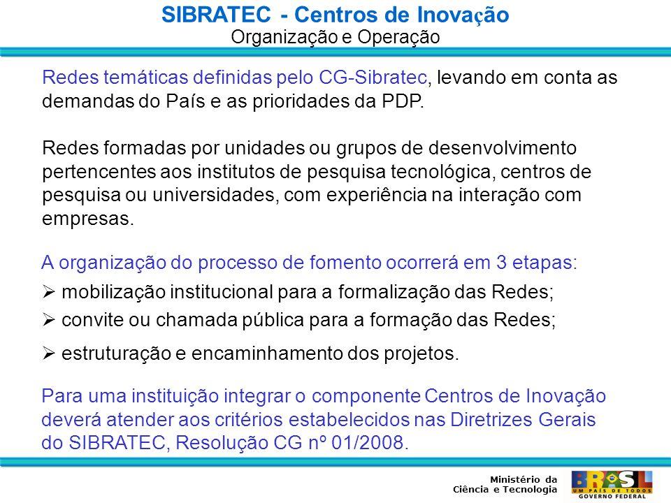 SIBRATEC - Centros de Inovação