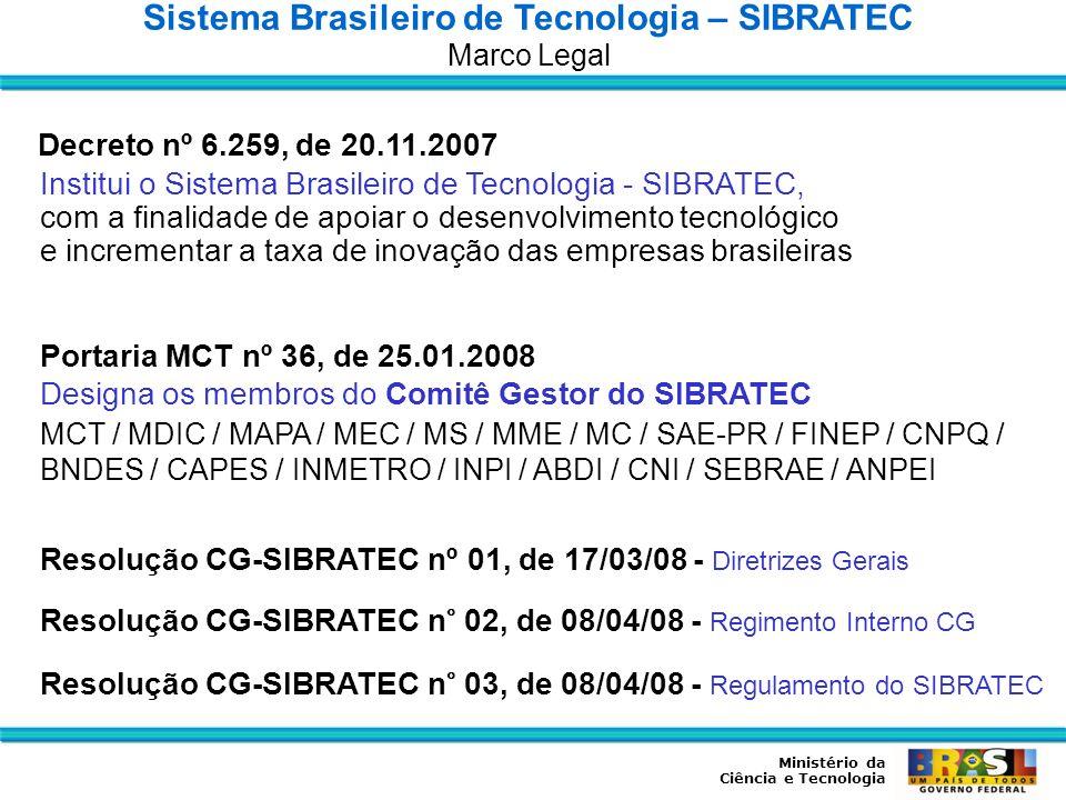 Sistema Brasileiro de Tecnologia – SIBRATEC