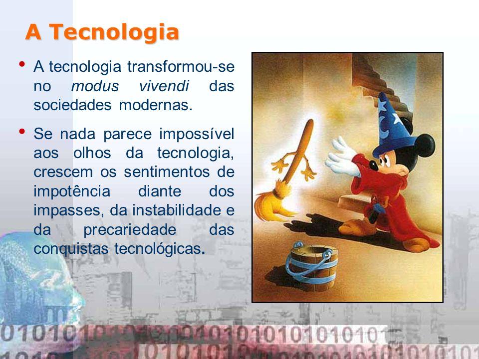 A TecnologiaA tecnologia transformou-se no modus vivendi das sociedades modernas.