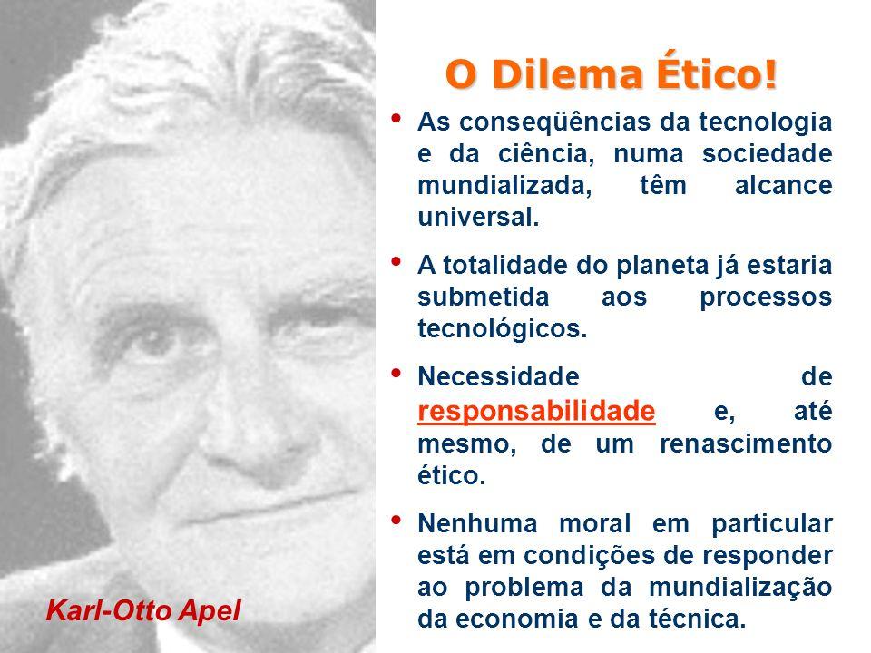 O Dilema Ético! Karl-Otto Apel