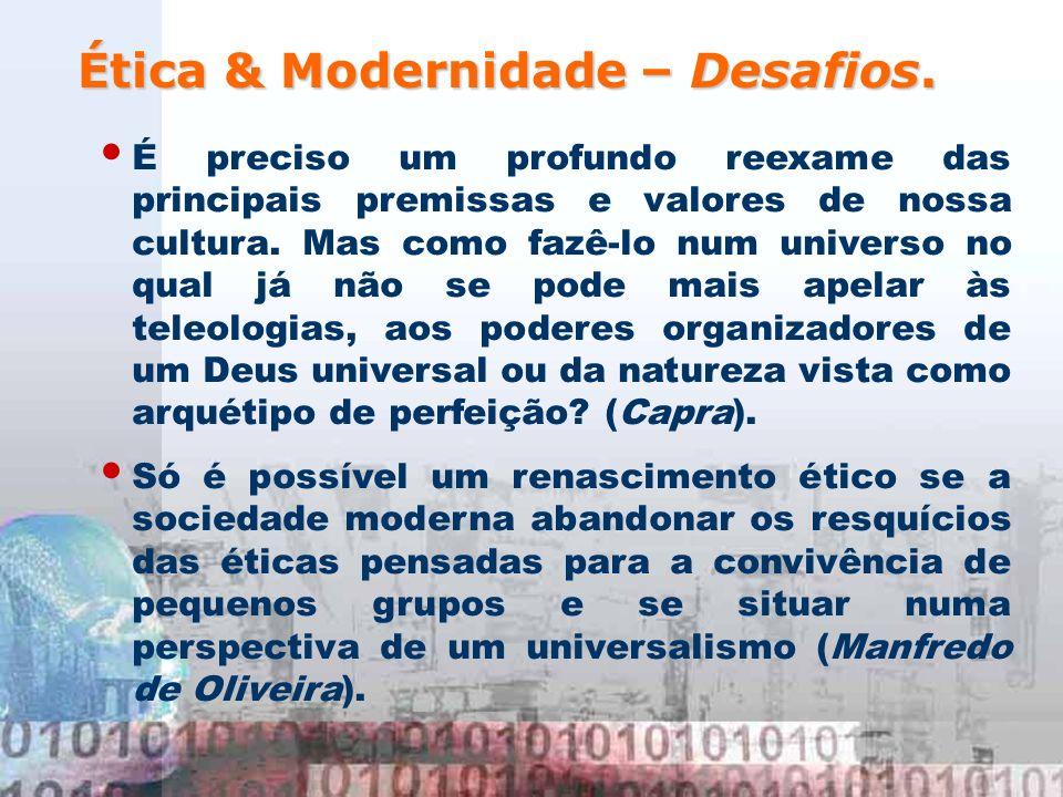 Ética & Modernidade – Desafios.