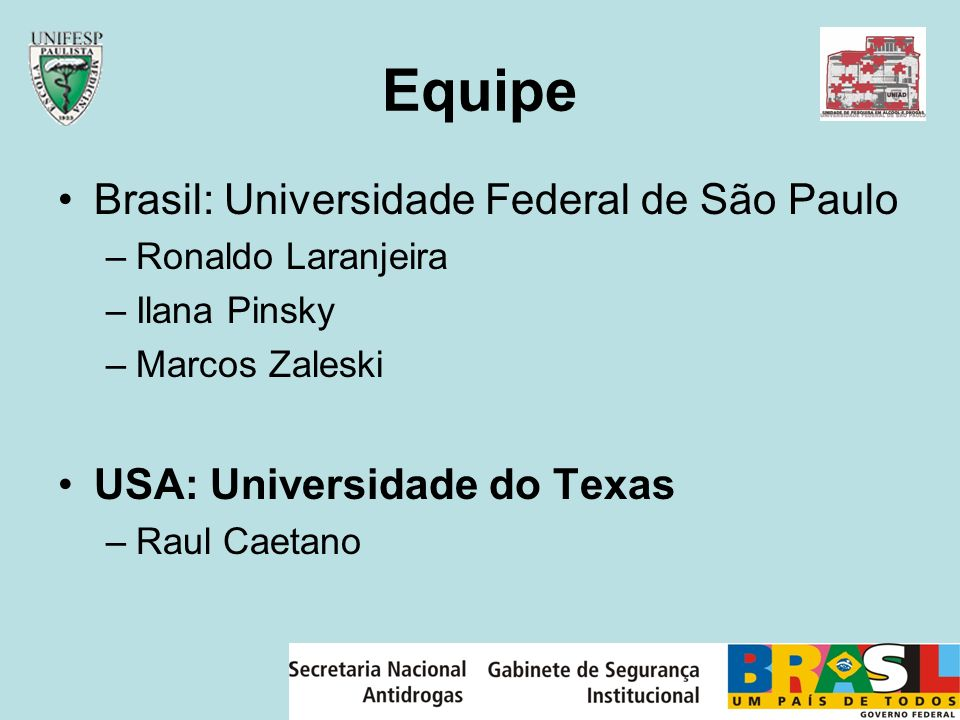 Equipe Brasil: Universidade Federal de São Paulo
