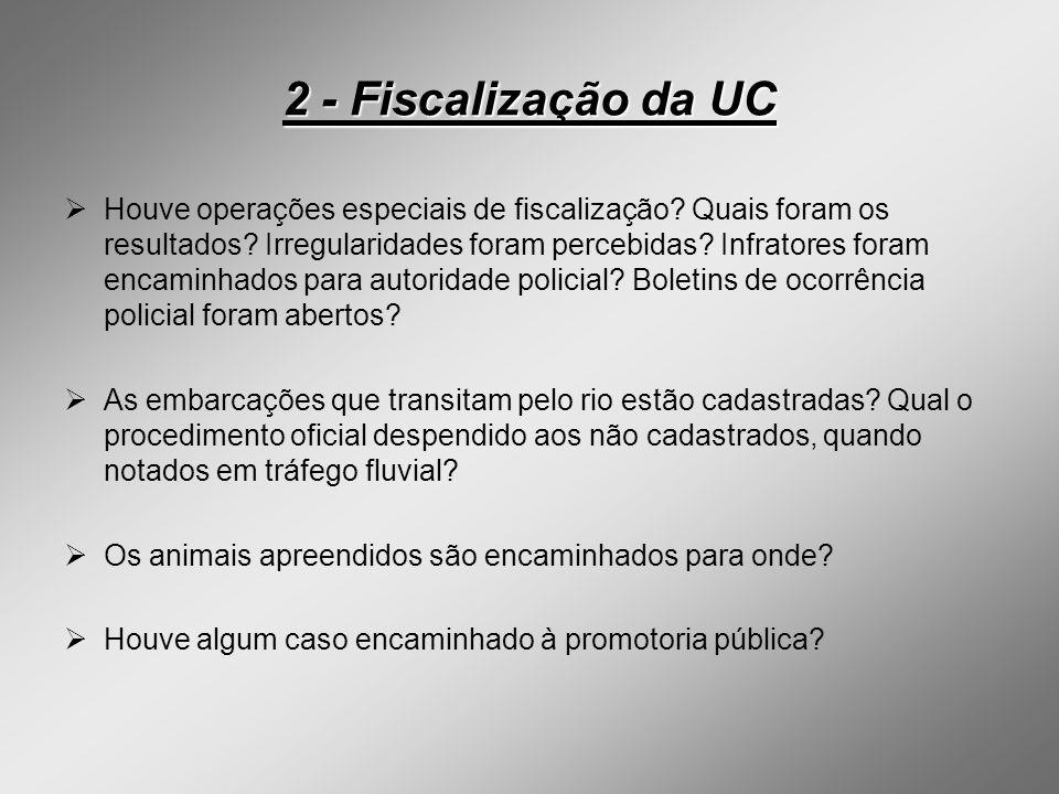 2 - Fiscalização da UC