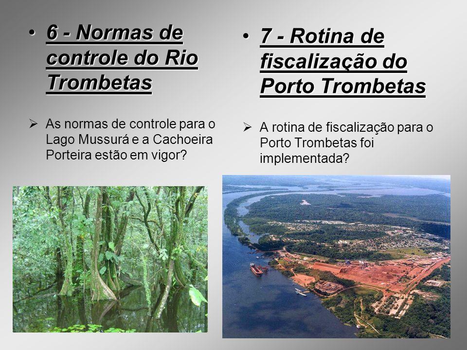 6 - Normas de controle do Rio Trombetas