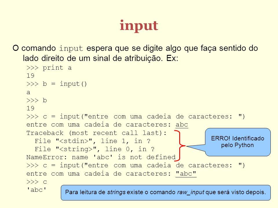 ERRO! Identificado pelo Python