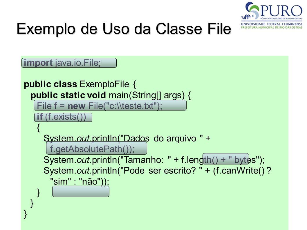 Exemplo de Uso da Classe File