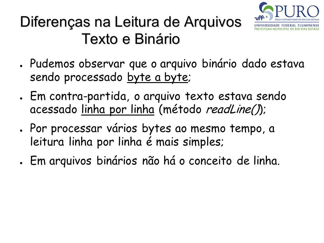 Diferenças na Leitura de Arquivos Texto e Binário