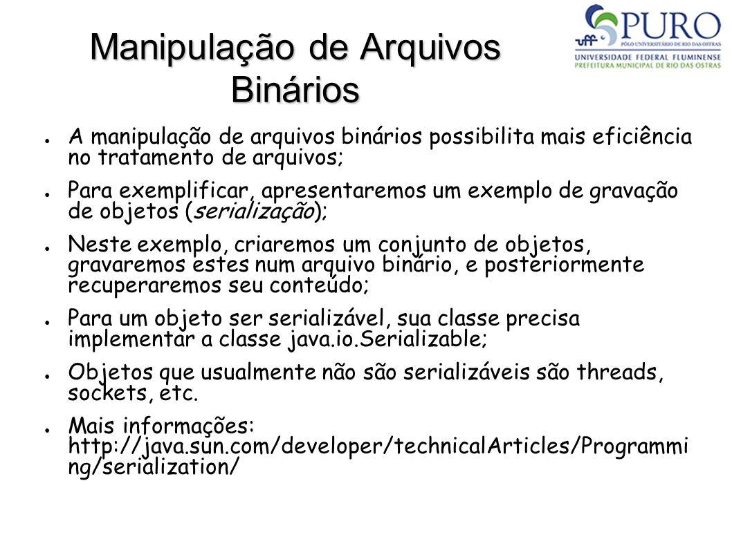 Manipulação de Arquivos Binários